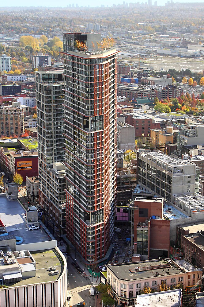 Apartment Block from Harbour Tower, Vancouver City, Canada by Carole-Anne