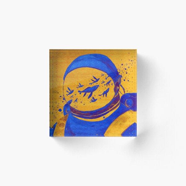 Oriental Berber Spaceman Underwater Acrylic Block