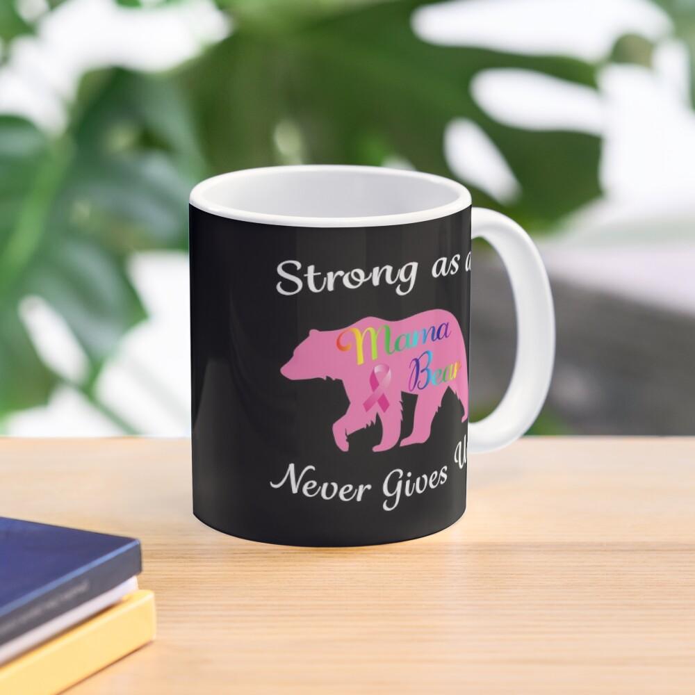 Breast Cancer Mama Bear Fighter Warrior Survivor. Mug