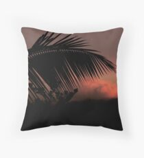 Tropical Silhouette 2 Throw Pillow
