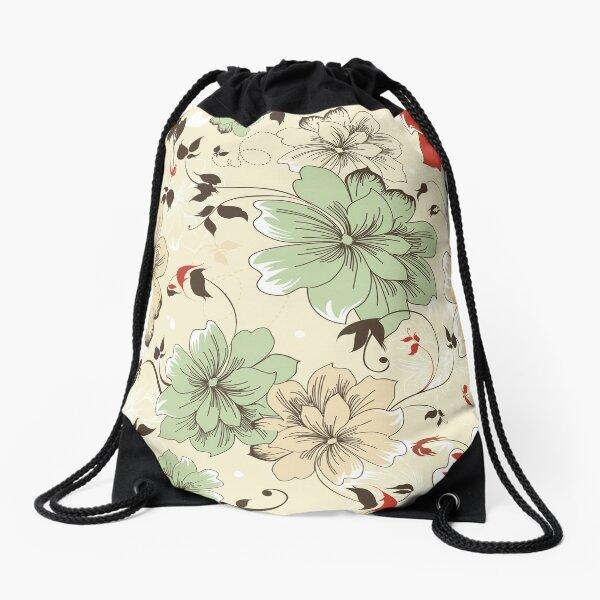 leo • theo | Japanese blossoms Drawstring Bag