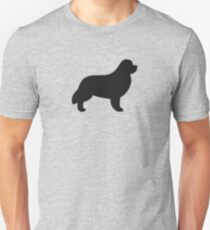 Newfoundland Dog Silhouette(s) Unisex T-Shirt