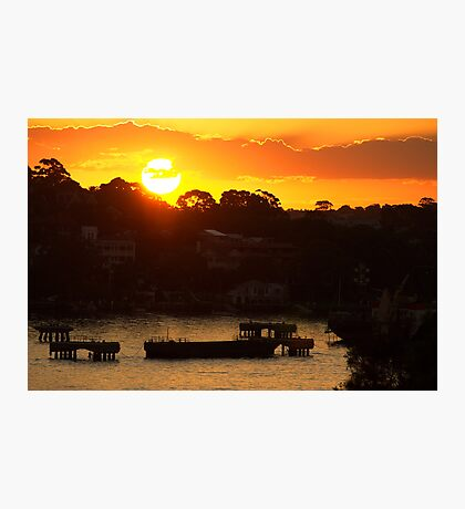 Sunset on Sydney Harbour Photographic Print