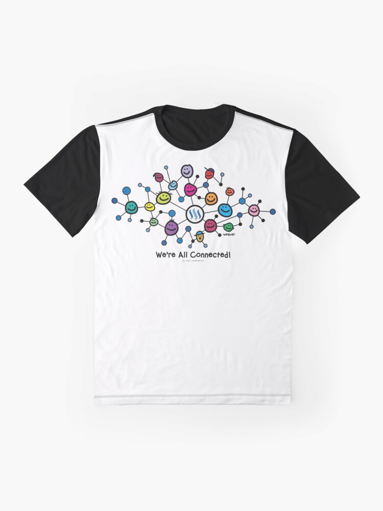 Alternate view of Steemit Blockchain - We're All Connected...  Graphic T-Shirt