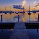 Sunrise Brisbane Waters by Len  Gunther