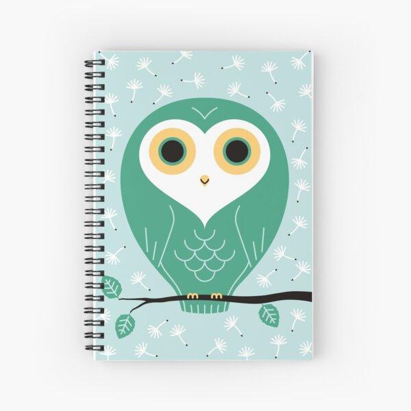 Spring owl Spiral Notebook