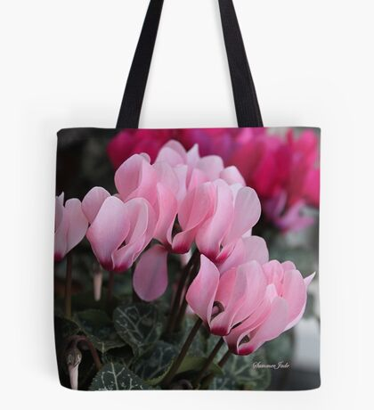Pink Cyclamen ~ A Living Decoration Tote Bag