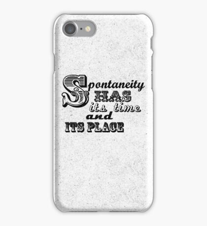 Spontaneity iPhone Case/Skin