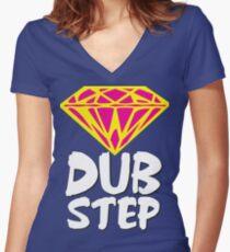 Dubstep Diamond Women's Fitted V-Neck T-Shirt