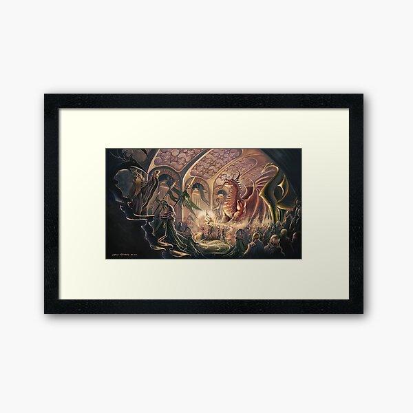 Ceremony of the Dragon Framed Art Print