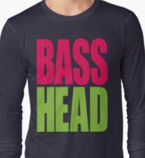 Bass Head (magenta/neon green)  Long Sleeve T-Shirt