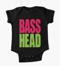 Bass Head (magenta/neon green)  One Piece - Short Sleeve
