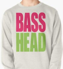 Bass Head (magenta/neon green)  Pullover