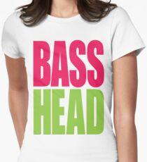 Bass Head (magenta/neon green)  Women's Fitted T-Shirt