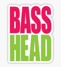 Bass Head (magenta/neon green)  Sticker