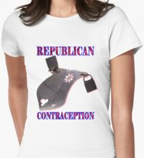 Republican Contraception Womens Fitted T-Shirt