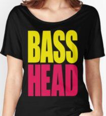 Bass Head (yellow/magenta)  Women's Relaxed Fit T-Shirt