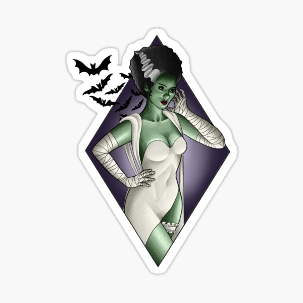 """Zombie pinup dead girl sticker halloween chair decal 4/"""""""