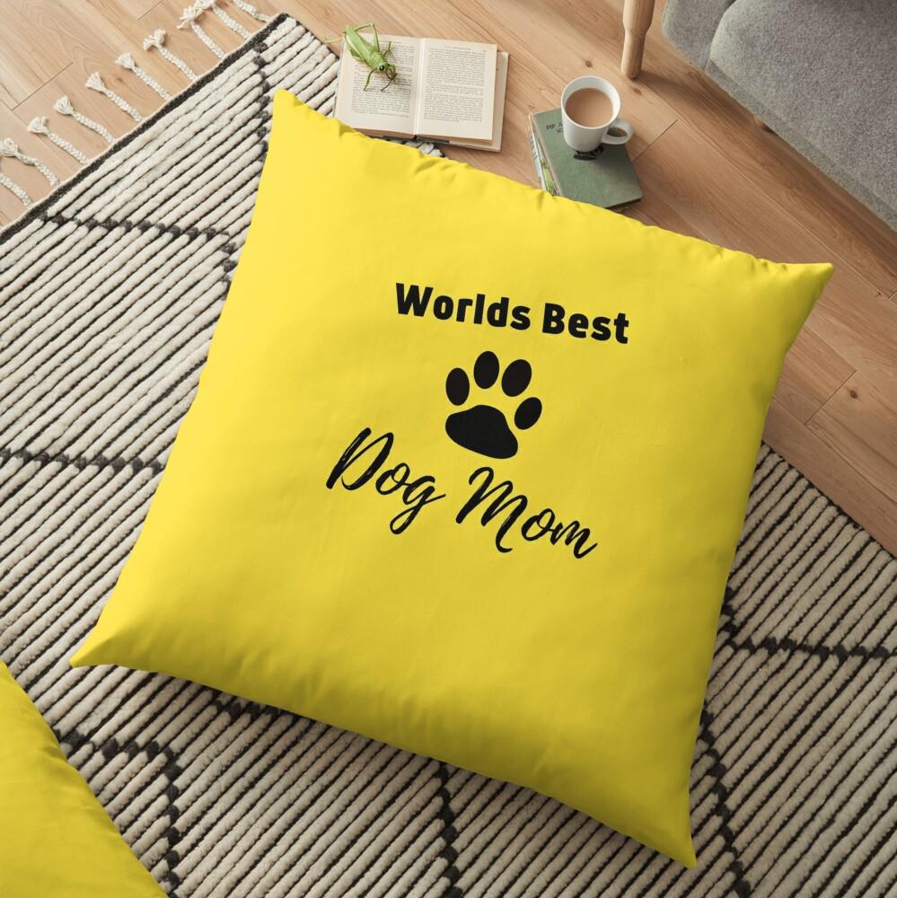 Worlds Best Dog Mom Floor Pillow