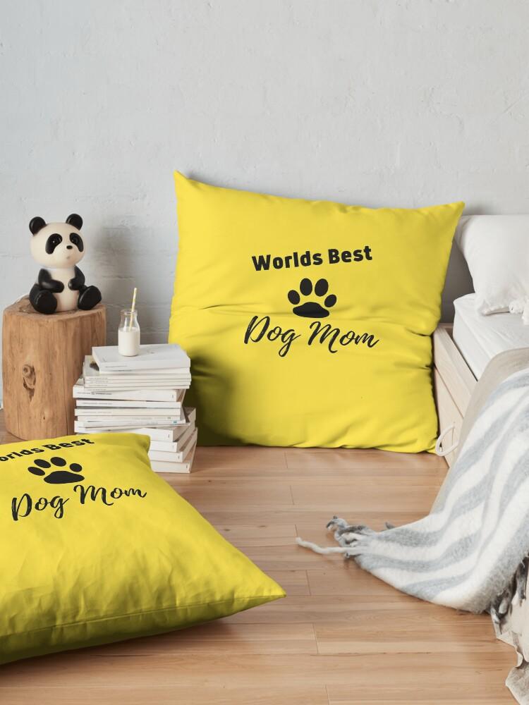 Alternate view of Worlds Best Dog Mom Floor Pillow