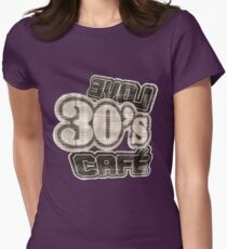 Love 30's Cafe Vintage T-Shirt Womens Fitted T-Shirt