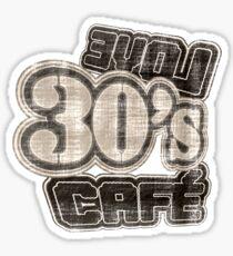 Love 30's Cafe Vintage T-Shirt Sticker