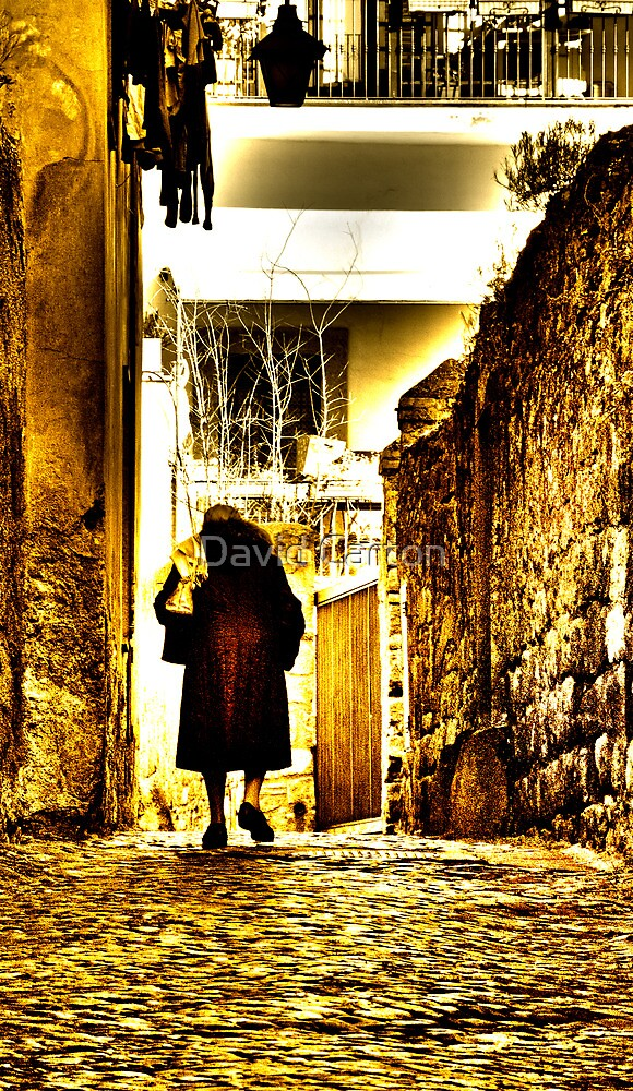 Old lady, alleyway, Viterbo, Italy by David Carton