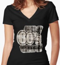 Love 60's Cafe Vintage T-Shirt Women's Fitted V-Neck T-Shirt