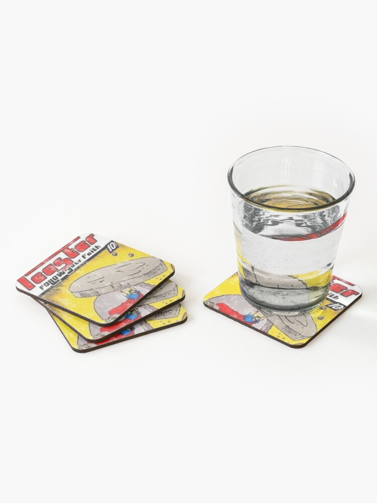 Alternate view of follow your faith cover Coasters (Set of 4)
