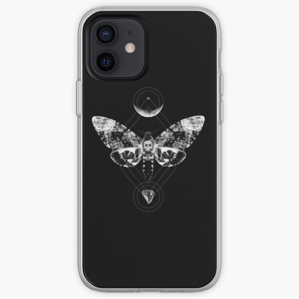 Crystal Moon and Death Moth iPhone Soft Case