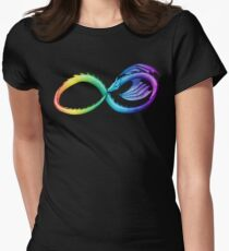 Spectrum Infinity Dragon Women's Fitted T-Shirt