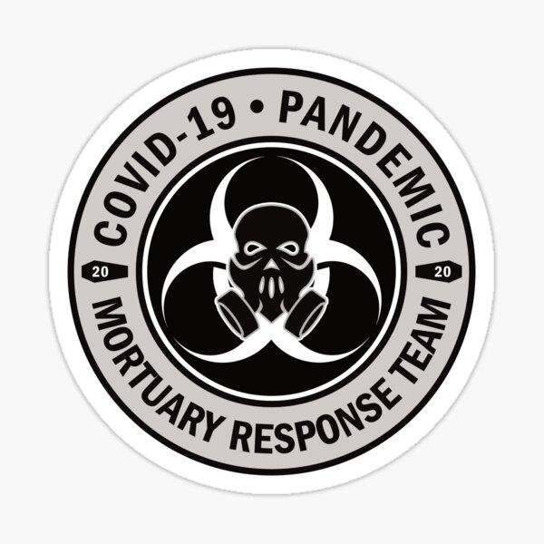 COVID-19 Pandemic Mortuary Response Team Skull 2020 Sticker