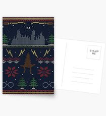 Ugly Potter Christmas Sweater Postcards