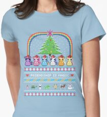 Happy Hearth's Warming Sweater Womens Fitted T-Shirt