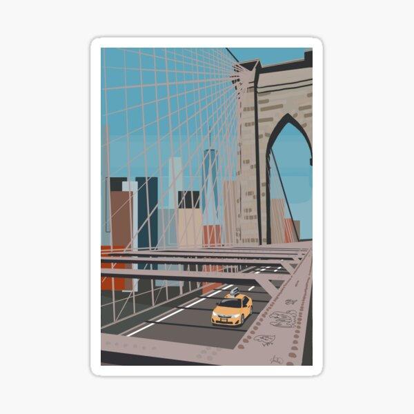 Brooklyn Bridge View Sticker
