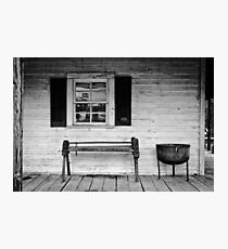 PORCH IN BLACK AND WHITE Photographic Print
