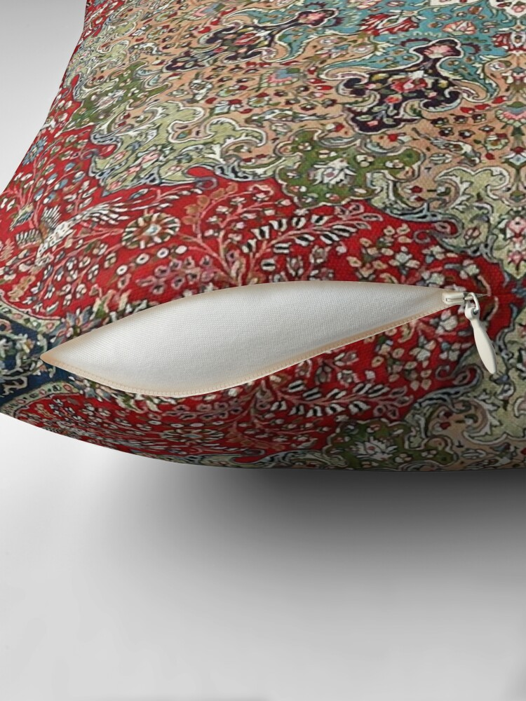 Alternate view of Vintage Antique Persian Carpet Print Throw Pillow