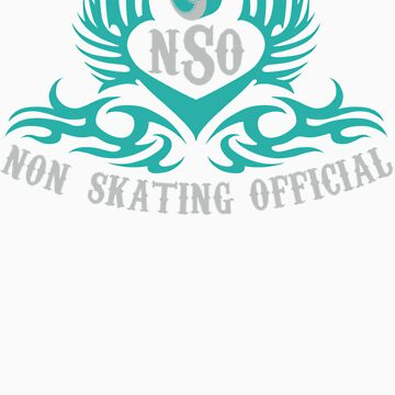 Non-Skating Official {silver & teal} by KustomByKris