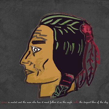 Blackhawk On a Blackboard by KingDomDesigns