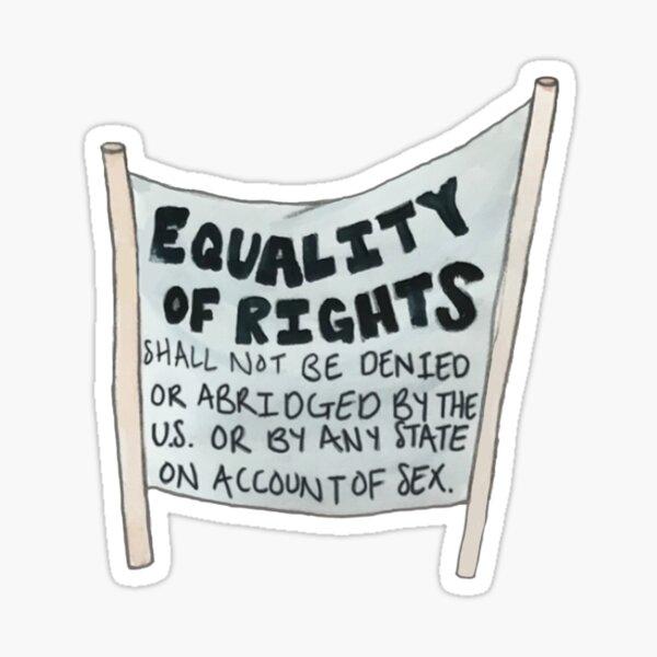 Equal Rights Amendment Banner Sticker