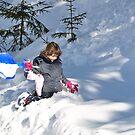 Enjoying snow at Krün, Germany, by Daidalos