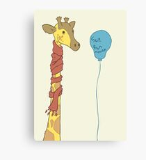 Say hello from my little friend Canvas Print