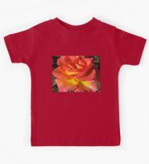 Autumn Sunset Rose Kids Tee