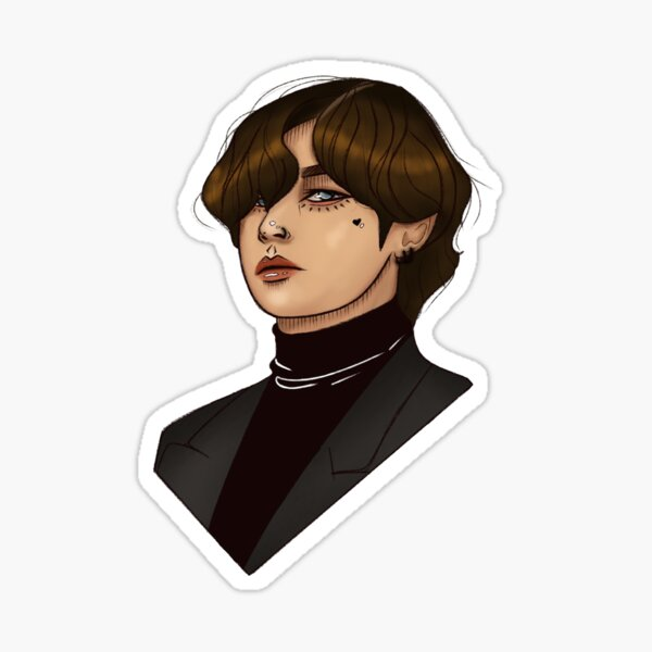 grammys 2020 taehyung ver 3 sticker by aphorditae redbubble redbubble