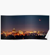 Blood Moon Over Boise Poster