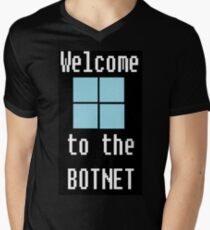 Welcome to The BotNet - black Men's V-Neck T-Shirt