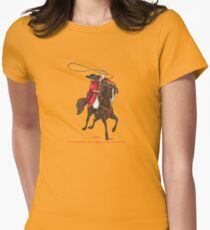 Carlos and Gaucho by tasmanianartist for Karl May Friends Fitted T-Shirt