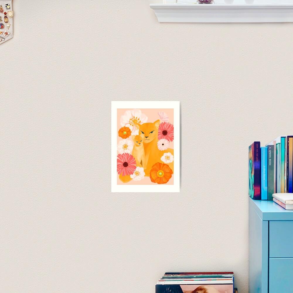 Mother Lion and cub II Art Print