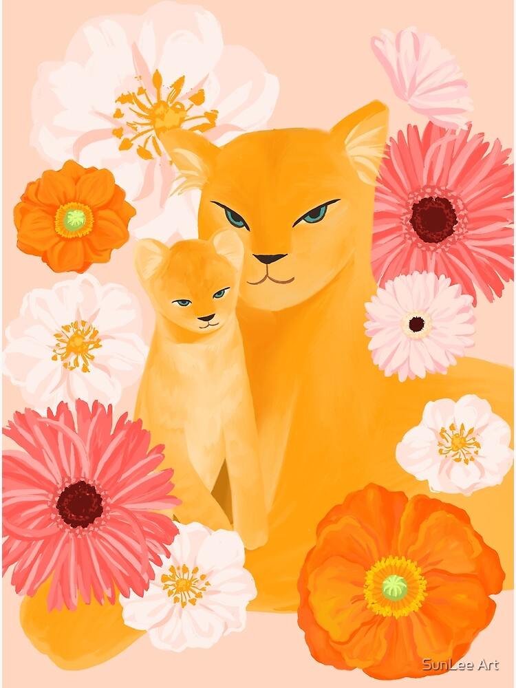 Mother Lion and cub II by sunleeart