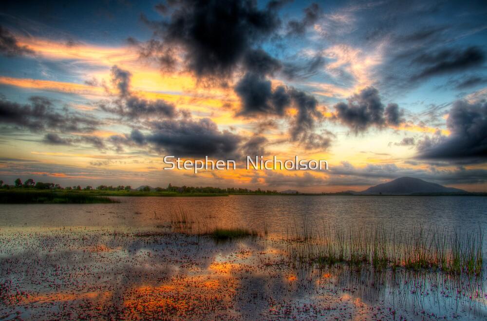 Sunrise on Tidal Flats by Stephen  Nicholson